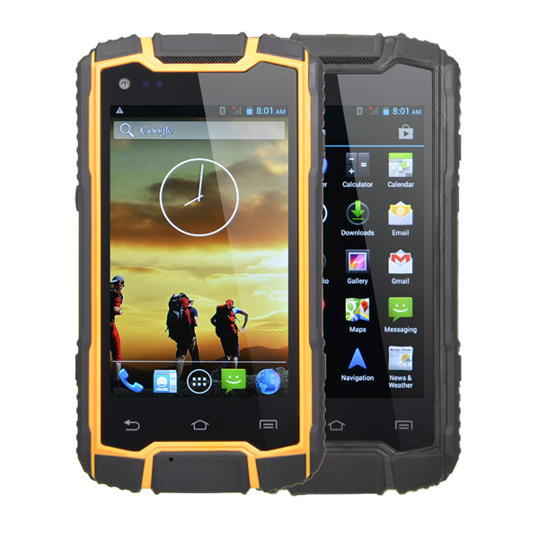 DG1 4-inch IP68 MT6582 1.3GHz Quad-Core Waterproof Smartphone Feature Phones