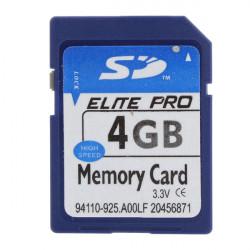 ELITE PRO SD Card Hukommelseskort 4GB for MP4 Kamera PC GPS ETC