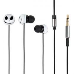 Halloween Pumpa Metall In Ear Earphone Headset Kabel för Mobiltelefon