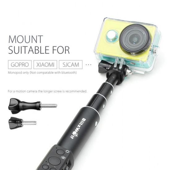 Utbytbara tillbehör lång skruv Med Cap För Blitzwolf Bluetooth / Wired Selfie Stick Monopod 2021