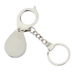 Schlüsselanhänger Demontage Lupe für Mobiltelefone Silber