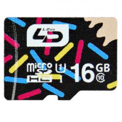 LD 16GB Class 10 Micro SD TF Micro SD-kort för Mobiltelefon