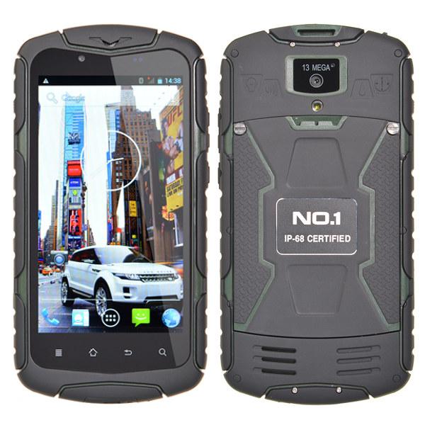 NO.1 X1 5-inch MTK6582 1.3GHz Waterproof Quad core Smartphone Feature Phones