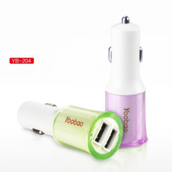 Original YOOBAO YB-204 Mini Dual USB Port Car Charger