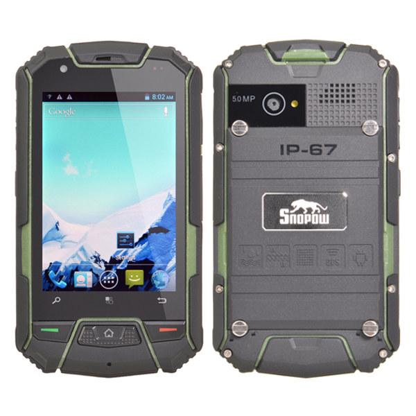 Snopow M6 3.5-inch MTK6572W IP67 Waterproof Dual core Smartphone Feature Phones
