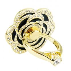 Venicen Universal Golden Crystal Rose Ring Holder Adhesive Stand For Mobile Phone Tablet