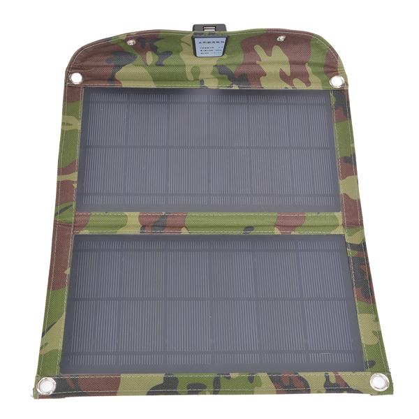 10W USB Folding Solar Panel Udendørs Portable Oplader til Mobiltelefon PowerBank / Nødbatterier