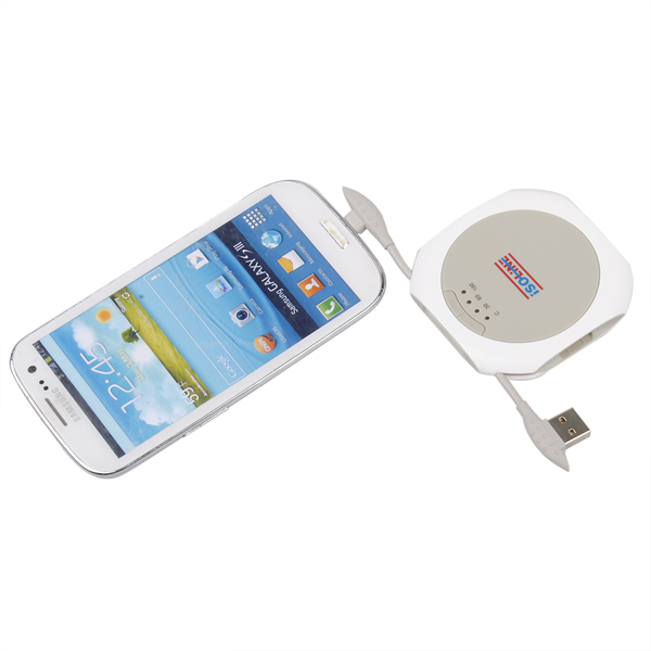 1400mAh UFO Polymer Portable PowerBank til Mobiltelefon Iphone PowerBank / Nødbatterier