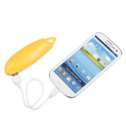 2200mAh Lomui Mini Bærbar Pepper Shape PowerBank til Mobiltelefon