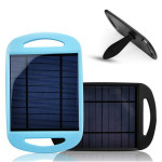 2.5W 0.5A Travel Solar Charger Pannel With USB Ports For Smartphone Power Banks