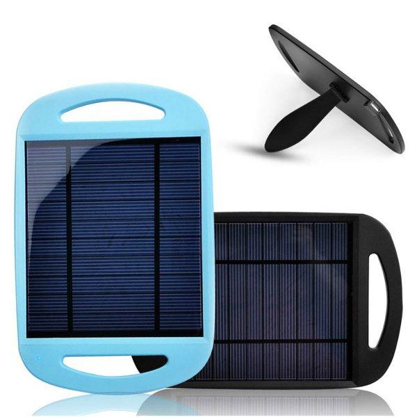 2.5 W 0.5A Rejse Solar Oplader Pannel med USB-porte til Smartphone PowerBank / Nødbatterier