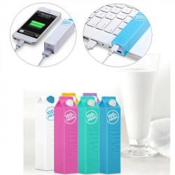 2600mAh Milk PowerBank Bärbart Batteri för Mobiltelefon
