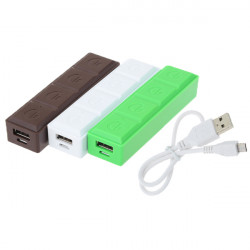 2600mAh Portable Chocolate USB Power Bank For Mobile Phones