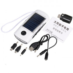 5.5V/0.6W Portable Solar Charger With Flashlight FM Radio For Phone