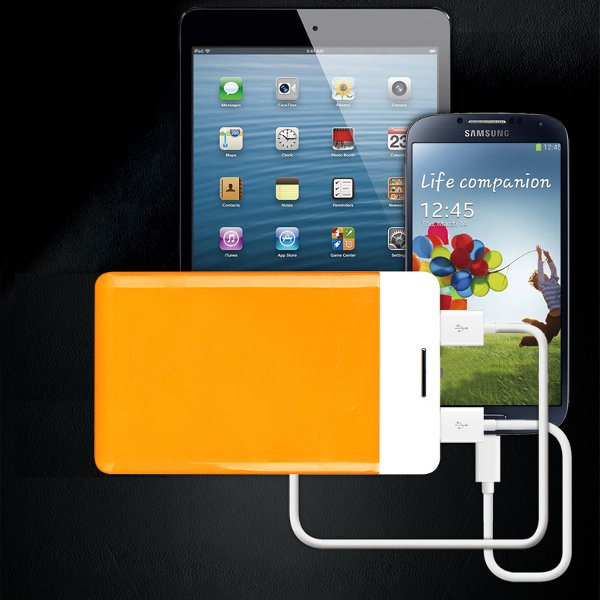 8800mAh Ultra Thin 2 USB Portable Power Bank For Smartphone Power Banks