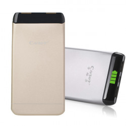 Cager S15 5500mAh Dual USB Port Ultra Tynd PowerBank Portable Batteri Oplader