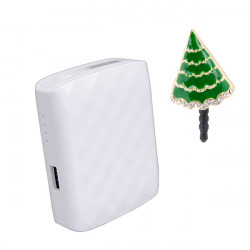 HAME 4400mAh Portable Power Bank + Christmas Anti Dust Plug