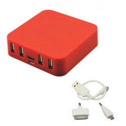Iwo P18 7800mAh 4 USB Udgange PowerBank til Mobiltelefon