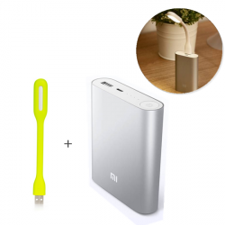 Ursprüngliche XIAOMI 10400mAh Energien Bank + Original Xiaomi tragbare Licht