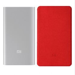 Original XIAOMI 5000mAh Power Bank + XIAOMI Power Bank Case Red