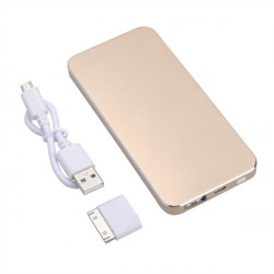 Ultra Thin 5000mAh Polymer Power Bank With One Connector Adapter