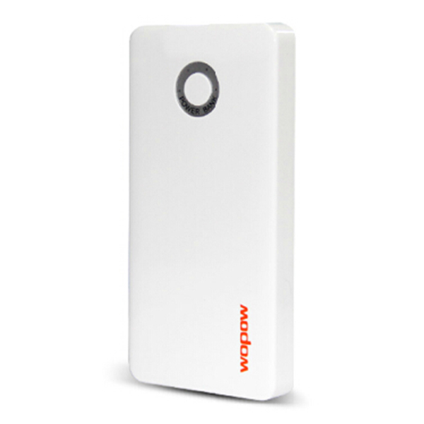 Wopow 5000mAH Double USB Battery Power Bank with USB Cable Power Banks