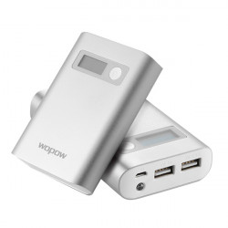 Wopow 7500mAH Double USB External Battery Power Bank With USB Cable