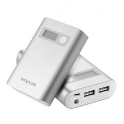 Wopow 7500mAH Dubbel Extern USB Batteri PowerBank med USB-kabel
