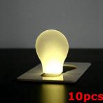 10stk Bærbare LED Card Lys Pocket Lampe Pung Tegnebog Nødsfald Lys Camping & Udendørs Aktiviteter
