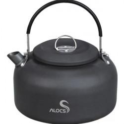 1.4L Aluminum Ashen Black Camping Picnic Water Kettle Teapot