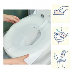1 Pack 10Pcs Clean Disposable Paper Sanitary Toilet Seat Covers Camping Travel