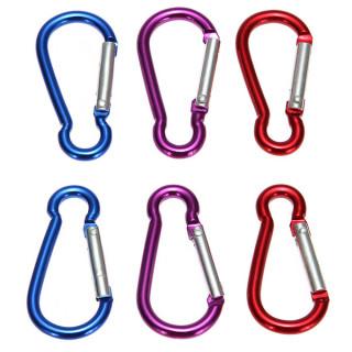 Details about  /1pcs Black Clip Hook Small Keyring Camping Sports Caribiner Carabiner New