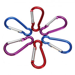 1 Pcs Metal Carabiner Clip Snap Hook Key ring Camping Sport Karabiner
