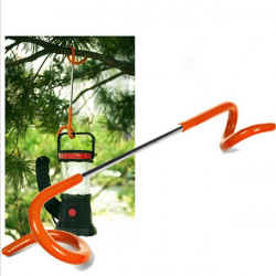 2 - Way Camping Hiking Lantern Light Lamp Hanger Tent Pole Hook