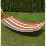 200 * 80cm Canvas Single Hængekøje Turisme Camping Fritid Fabric Camping & Udendørs Aktiviteter