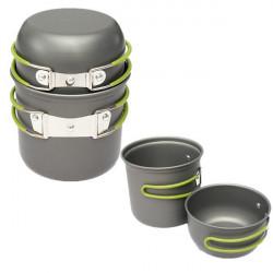 2 Pcs Outdoor Camping Picnic Cookware Cook Pot Bowl
