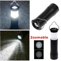 3W LED Waterproof Zoomable Lantern Light Lamp Torch Flashlight