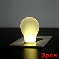 3st Bärbar LED Kort Ljus Fick Lampa Purse Wallet Nödljus