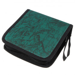 40 Disc CD DVD Album Holder Storage Case Bag Map Pattern