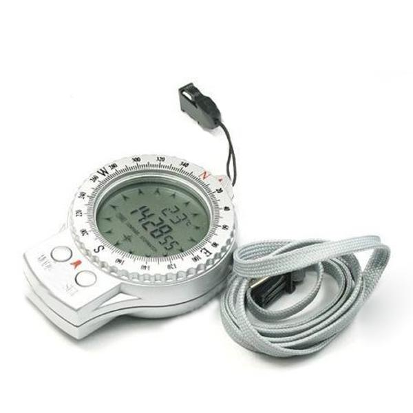 4 i 1 Multifunktionelle Digital Kompas Ur Stopur Termometer Camping & Udendørs Aktiviteter