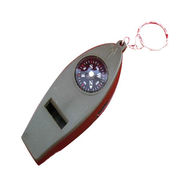 4 i 1 Termometer Kompas Lup Camping Fløjte Camping & Udendørs Aktiviteter