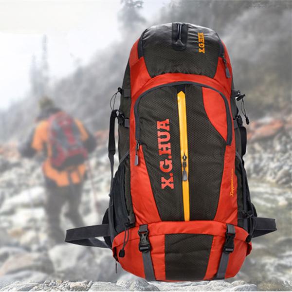 50L Frilufts Vandring Reseing Bergsbestigning Ryggsäck Camping & Friluftsliv