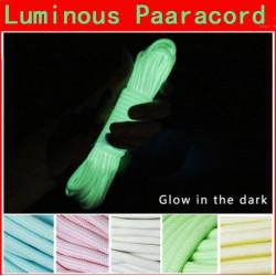 50ft 9Core Multifunktions Nylon Paracord Faldskærm Cord Lysende Glow