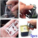 5stk Udendørs Multifunktions Kniv Card Multifunktionel Værktøj Camping & Udendørs Aktiviteter