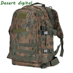 6 Färg 3D Militär Taktisk Ryggsäck Camping Vandring