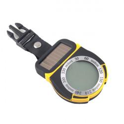 6 i 1 Soldrevne Kompas Barometer Højdemåler Termometer