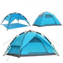 Aluminium Rod Automatisk Camping Tent 4 Person Camp Wigwam 4 Seasons