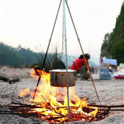 BBQ Cookware Campfire Camping Tripod Hanger Cook Portable Foldable
