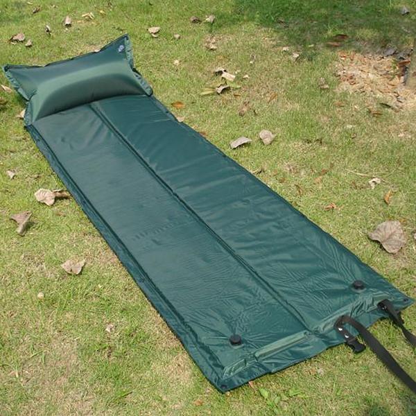 Af modish Køb Blå Udendørs Camping Pude Oppustelig Pude Bed Måtte Madras CU09