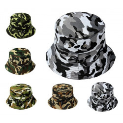 Bucket Camo Boonie Hat Sun Cap Camping Vandra Unisex Män Kvinnor